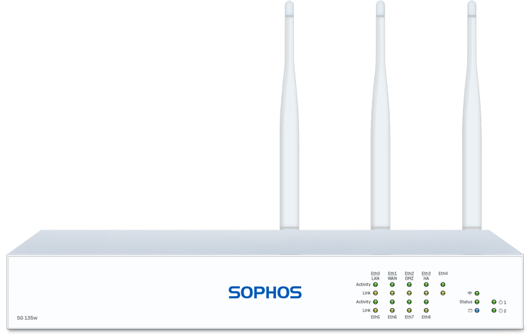 Sophos SG 135 Security Appliance (SG135w) - Frontansicht