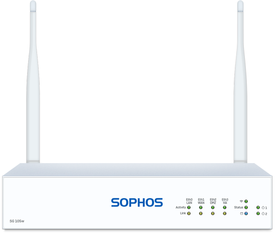 Sophos SG 105w Rev. 3 Security Appliance font