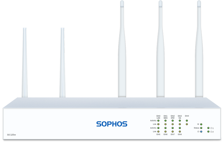 Sophos SG 125w Rev. 3 Security Appliance with 3G-4G Expansion Slot front