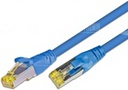 [PKW-KAT6A- 0.25 BL] CAT6A HQ Patchkabel, S/FTP, LSOH, Lifetime Warranty, blau (0.25)